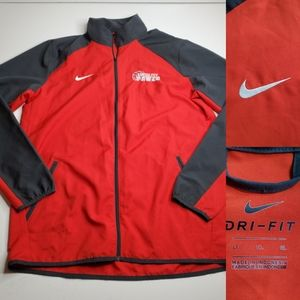 L T NIKE DRI-FIT KANSAS CITY RED GRAY WINDBREAKER